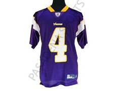 MINNESOTAVIKINGS FARVE #4 JERSEY, ADIDAS,size Large NWT screen printed