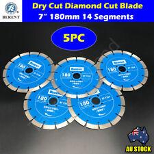 "5PC 180mm Diamond Cutting Blade Dry Cut 7"" Saw Disc Marble Granite Concrete"