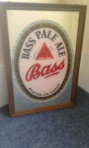 Bass beer advertising pub/home mirror