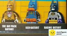sh309 310 311 Lego The Batman Movie 70909 - 3x Batman Minifigure - New