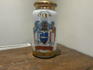 VINTAGE GLASS APOTHECARY COLOCYNTH JAR WITH LID