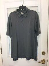 Men's Blue & White Adidas Climate Cool Golf Polo Shirt Size Xl
