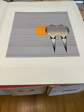 "Charley Harper Signed Limited Edition Serigraph ""Lovey Dovey"" NOS"