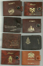 More details for 8 leather stamp booklet holders/cases ilkley st ives cambridge one art nouveau
