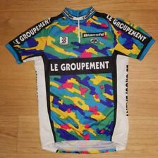 Vintage '95 Le Groupement FIR Bianchi Road Cycling Jersey Short Sleeve Top Large