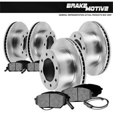 Front And Rear Brake Disc Rotors & Metallic Pads For 1999 Ford F250 F530 4X4 4WD