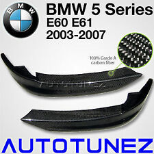 Carbon Fiber Front Bumper Splitters Lip BMW E60 E61 5 Tunezup