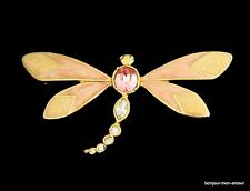 Designer KJL Kenneth Jay Lane for AVON strass libellule broche brooch, broche