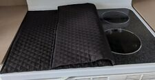 "Stove Top Cover & Protector Quilted Material Handmade - Color Black - 24"" x 21"""