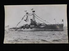 VINTAGE BLACK & WHITE PHOTOGRAPH OF USS NORTH DAKOTA (BB-29)