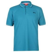 ✔ SLAZENGER Herren Poloshirt TShirt Fitnessshirt Polohemd Fitnesshemd Türkis TIP