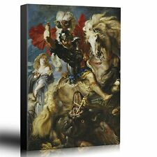 "Wall26 - Oil Painting of ""St George Fighting the Dragon""- Canvas  - 16x24 inches"