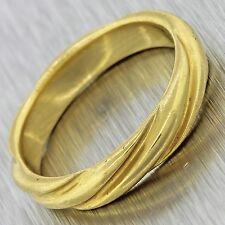 $2000 Designer Tiffany & Co. Vintage Estate 18k Solid Yellow Gold Band Ring