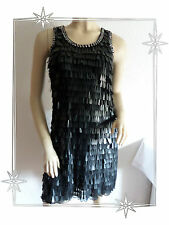 Magnifique Robe Chasuble Paillettes Perles Chao Liu Taille M