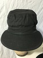 Black 100% Ripstop Cotton Mens Cap, Combat Type II Hat Free Shipping NWT SM-Med