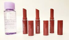 Lot of 3 Clinique Lipstick in Black Honey .04 oz + Bonus Clinique Makeup Remover