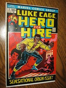 Luke Cage Hero for Hire #1 1st Luke Cage 1972 Marvel Comics Defenders Stan Lee