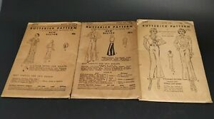 Antique Butterick Pattern New Deltor #'s 3752, 3874 & 5192 1920's-30's - UN-USED