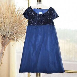 Luli & Me Girls Blue Sequin Princess Party Dress 8 Nwt