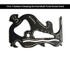 New Monkey 13 in 1 Outdoor Camping Survival Multi-Tools Pocket Card Free Post
