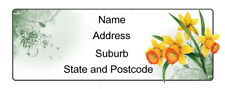 30 Personalised Quality Plus Adhesive Address Labels - Daffodils