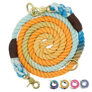 6ft Long Multifunctional Dog Rope Lead with Double Head Adjustable Dog Leads