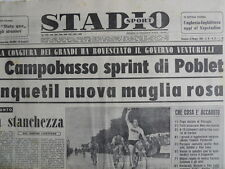 STADIO - Quotidiano Sportivo 22-05-1960 - Anquetil Maglia Rosa Giro d'Ital [G44]