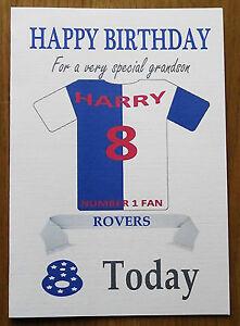 "BLACKBURN FAN Unofficial PERSONALISED Football Birthday Card (""ROVERS"")"