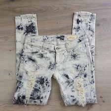 Siwy Hannah Blackstorm Ripped Distressed Skinny Women's Jeans Size 26 (L3)