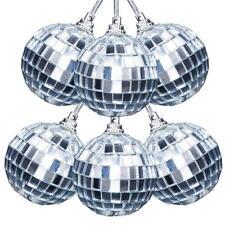 6 * 50 m m decoración espejo bola chuchería partido Ornamento colgante del árbol