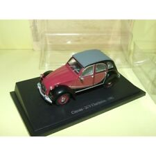 CITROEN 2CV CHARLESTON 1981 Noir et Bordeaux UNIVERSAL HOBBIES 1:43 sous blister