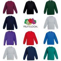 Fruit of the Loom Classic 80/20 Boys Girls Raglan Sweatshirt
