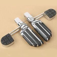Chrome Foot Peg Footrest Heel Stirrup For Honda VTX1800 02-11 VTX1300 03-09 VTX
