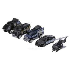 5pc 1:64 Alloy Police Vehicle Car Models Children Educational Toy Baby Kids Gift