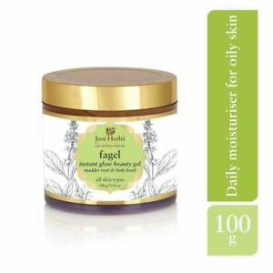 Just Herbs Ayurvedic Fagel Instant Glow All Purpose Beauty & Brightening Gel, Da