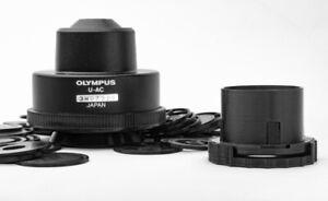Olympus microscope condenser darkfield polarizing oblique insert set