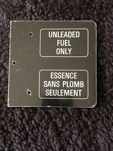 Rolls-Royce Bentley SZ 1990-98 Fuel Door Unleaded Label UB70622 NOS OEM NLA