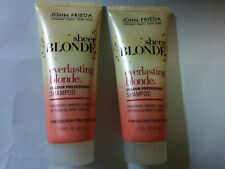 LOT of 2 New John Frieda Sheer Blonde Color Preserving Shampoo 1.5 oz. Travel