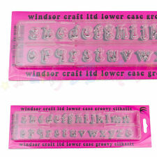 WINDSOR CLIKSTIX - Groovy Lower Case Letter Cutter - Sugarcraft alphabet cutters