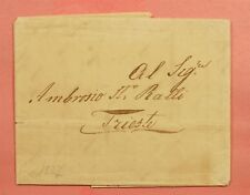 1827 ITALY STAMPLESS F/L TO TRIESTE
