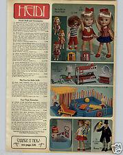1968 PAPER AD Heidi Doll Spunky Pocketbook Buffy & Mrs Beasley Dr. Doolittle