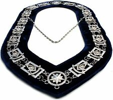 REGALIA MASONIC PAST MASTER SILVER METAL CHAIN COLLAR FREE SHIPPING