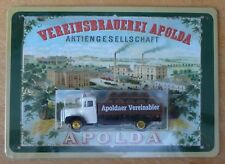 Apolda Brewery delivery lorry & plaque.