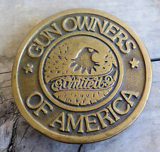 Gun Owners Of America Second Amendment Firearms Vintage Belt Buckle