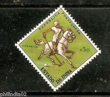 Portuguese India 1961 $50 Polo Sport Horse UNISSUED 1v MINT