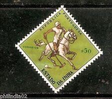 Portuguese India 1961 $50 Polo Sport Horse UNISSUED 1v MINT