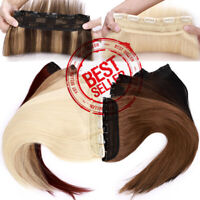 CLEARANCE One Piece Clip In 100% Real Remy Human Hair Extensions 3/4Full Head US