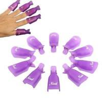10 Pcs Plastic Nail Soak Off UV Gel Art Polish Remover Wrap Gelish Clip Cap