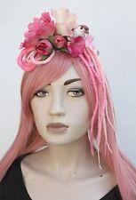 Rose Tiki Bird Flower fairy kei album Hippy dreads Bandeau Goth