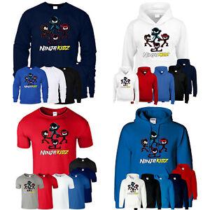 Ninja Kidz Tv T Shirt Gaming Team Boys  Girls Hoodie Kids Funny Gift Sweatshirt